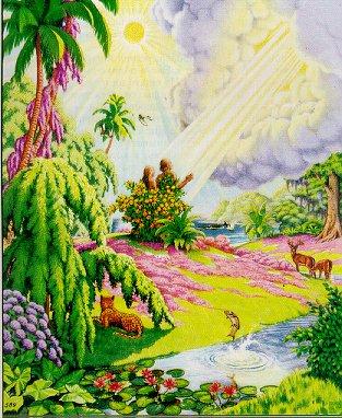 2014圣经里的伊甸园图片伊甸园圣经简笔画 圣经中伊甸园的美景图片