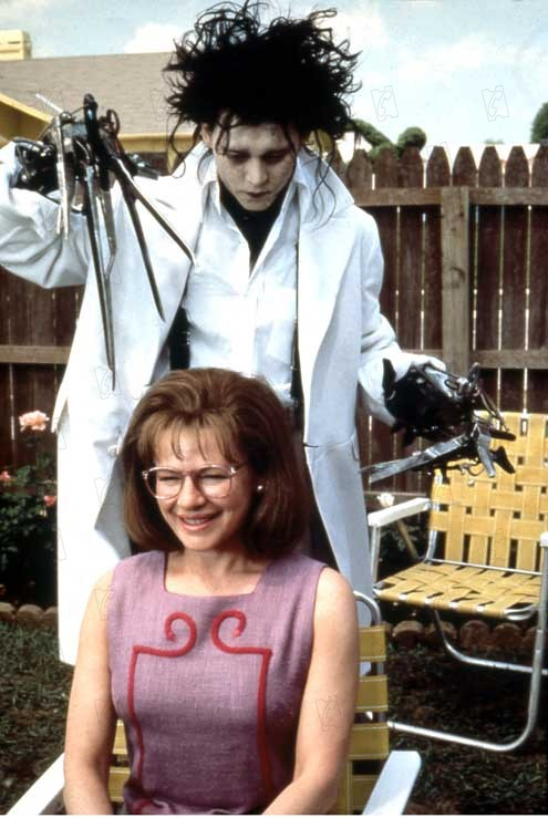 Kathy Baker Edward Scissorhands Scene Edward is arrested, but is