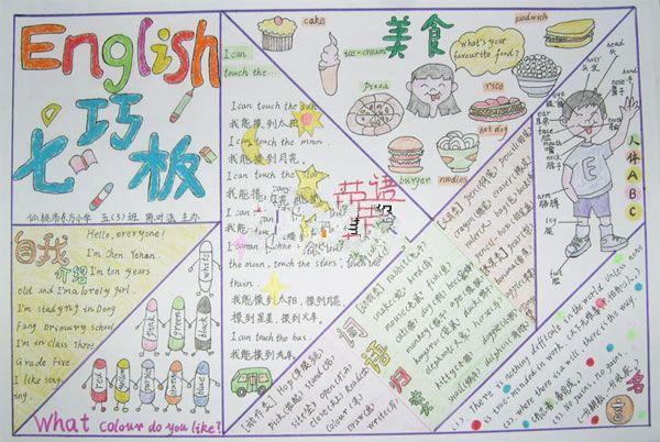 作文英语手抄报抄报-英语手介绍-英语美食大美食堂丛书图片